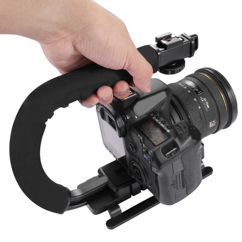 PULUZ C-vormige Video Handgreep Steadicam Stabilisator voor DSLR DV Camera