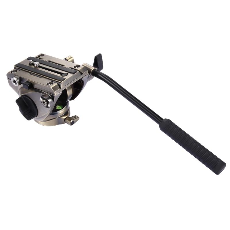 PULUZ Heavy Duty videocamera actie vloeistof slepen statiefkop schuifsysteem plaat voor DSLR & SLR Cameras(Gold)