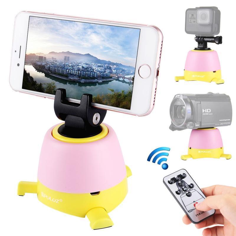 PULUZ elektronische 360 graden rotatie panoramisch statiefkop met afstandsbediening voor Smartphones GoPro DSLR Cameras(Yellow)