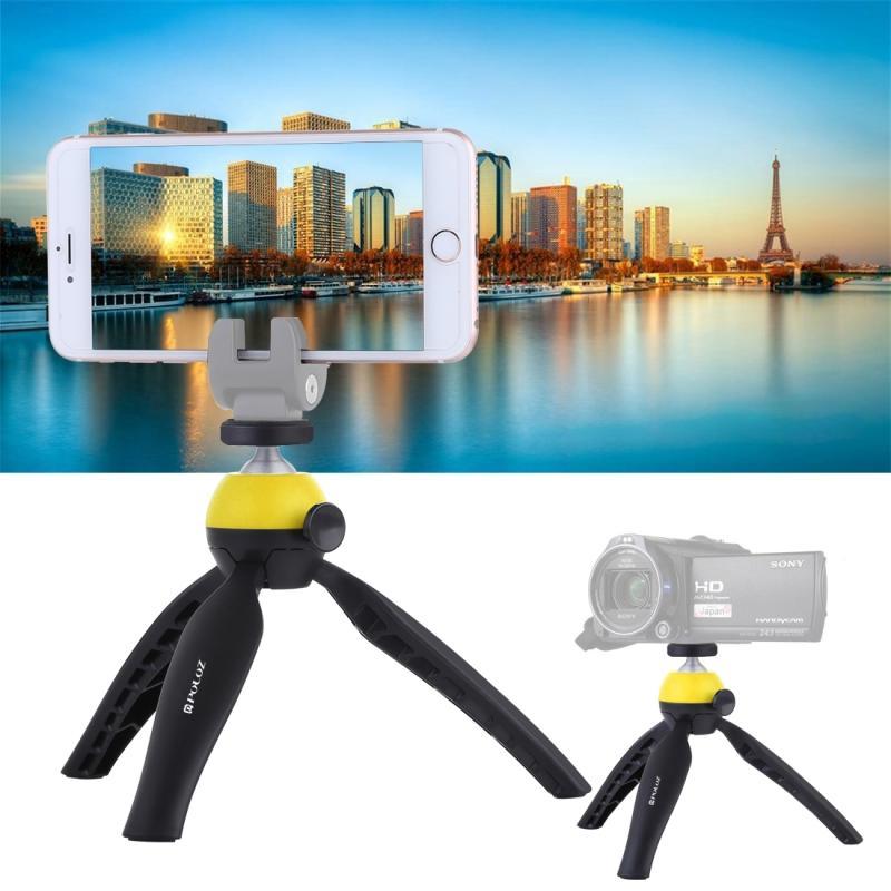 PULUZ Pocket Mini statief monteren met 360 graden bal hoofd voor Smartphones GoPro DSLR Cameras(Yellow)