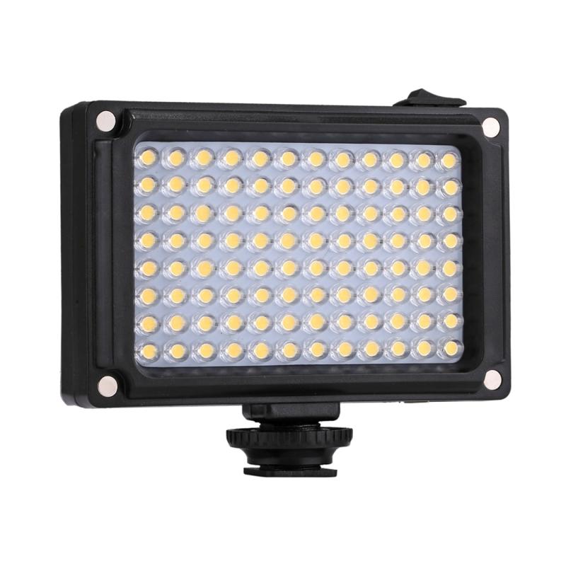 PULUZ Porcket 96 LEDs professionele fotografie Video & fotostudio licht met wit en oranje magneet Filters licht Panel voor Canon Nikon DSLR camera's