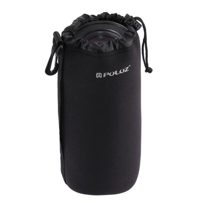 PULUZ neopreen SLR Camera Lens draagtas met haak voor Canon / Nikon / Sony camera's maat XXL: 27 cm x 10 cm