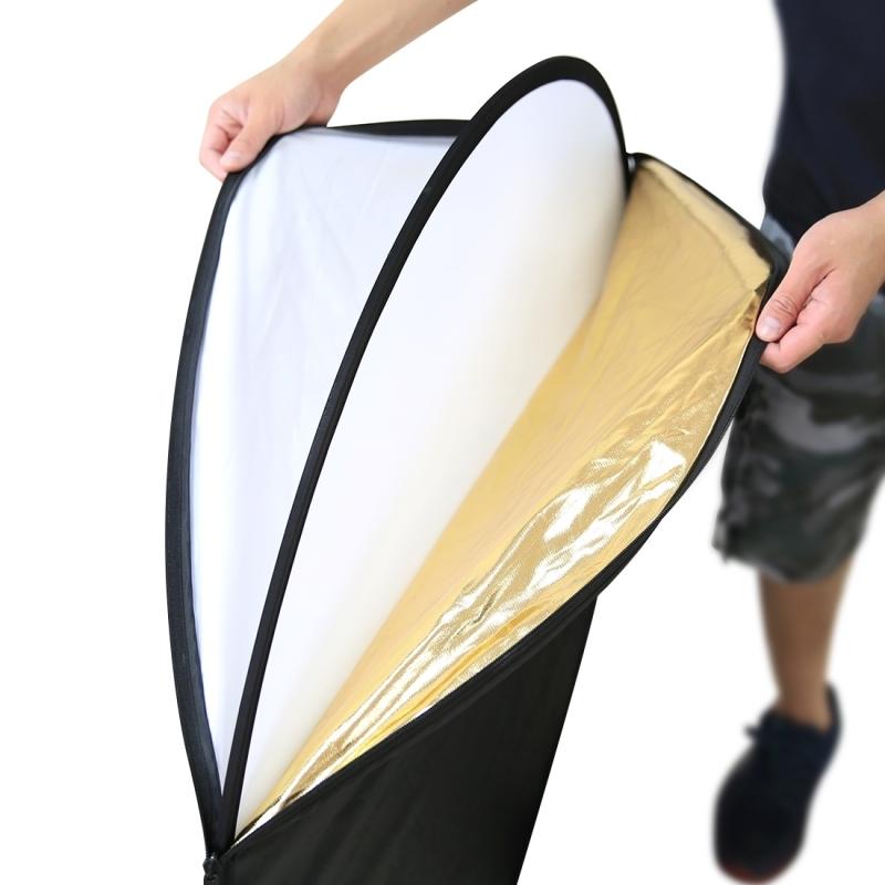 PULUZ 80cm 5 in 1 (zilver / doorzichtig / goud / wit / zwart) vouwen Foto Studio Reflector Board