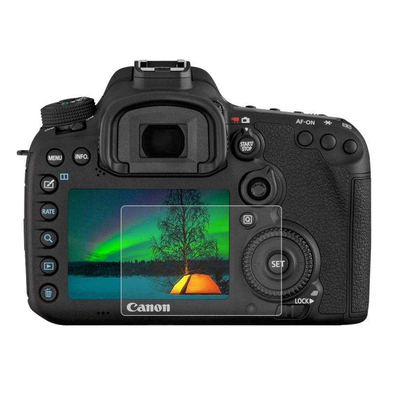 PULUZ 2.5D 9H Gehard glas Scherm bescherming Protector met gebogen rand voor Canon 7D Mark II Camera