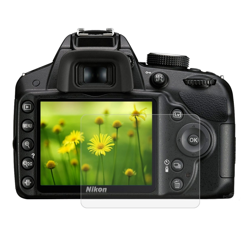 PULUZ 2.5D 9H Gehard glas Scherm bescherming Protector met gebogen rand voor Nikon D3200 / D3300 Camera