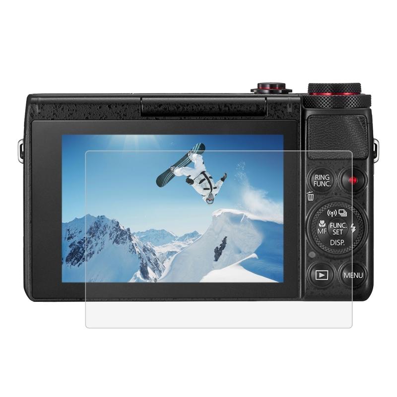 PULUZ 2.5D gebogen rand 9H oppervlaktehardheid gehard glas Screen Protector voor Canon G7X / G9X / G5X Olympus E-M5 / E-M10 Camera