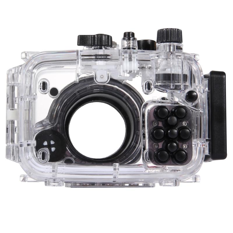 PULUZ 40m onderwater diepte duiken zaak waterdichte camerabehuizing voor Sony RX100 III(Transparent)