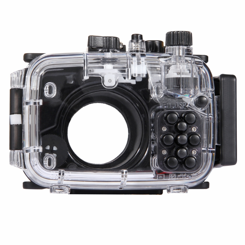 PULUZ 40m onderwater diepte duiken zaak waterdichte camerabehuizing voor Sony RX100 IV(Black)