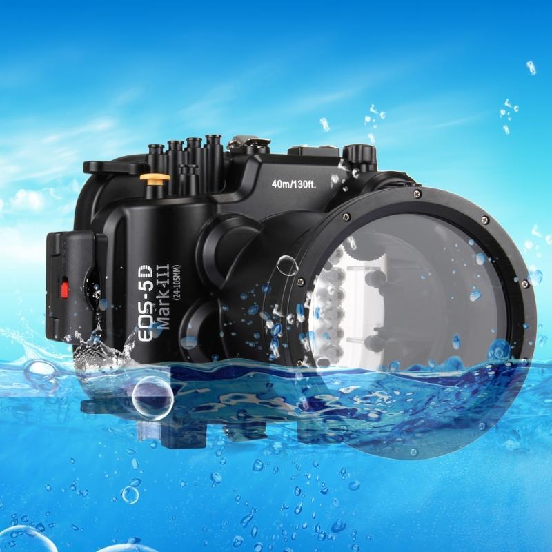 PULUZ 40m onderwater diepte duiken zaak waterdichte camerabehuizing voor Canon EOS 5D Mark III