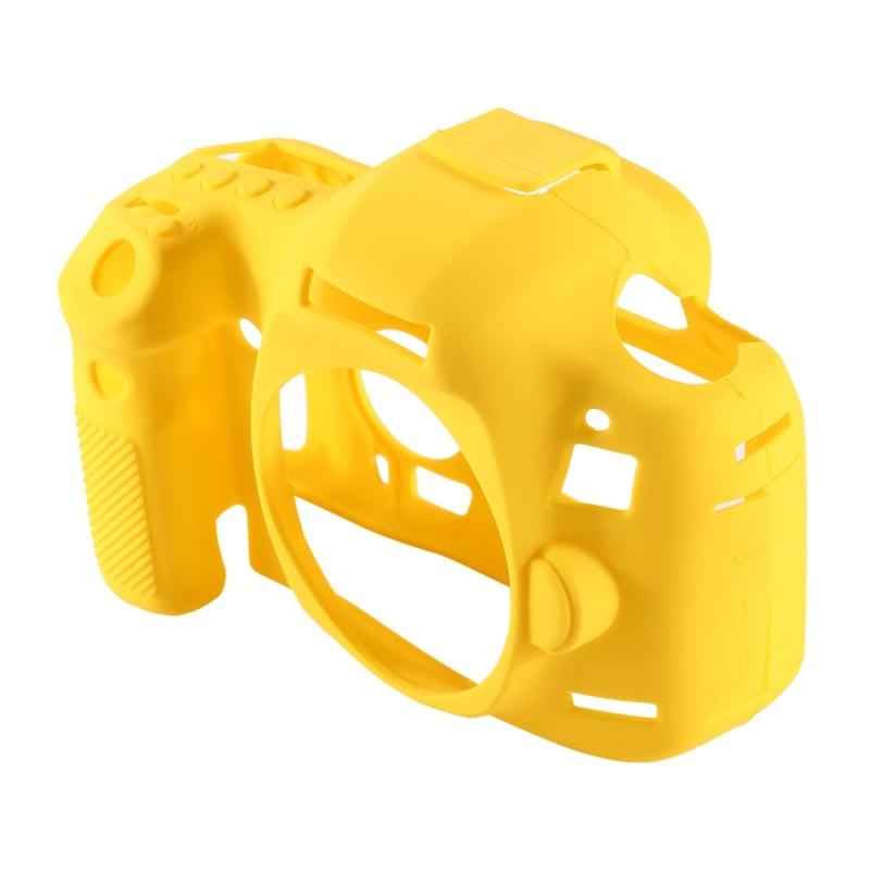 PULUZ siliconen beschermhoes Case voor Canon EOS 5 D Mark III (5D3)(Yellow)