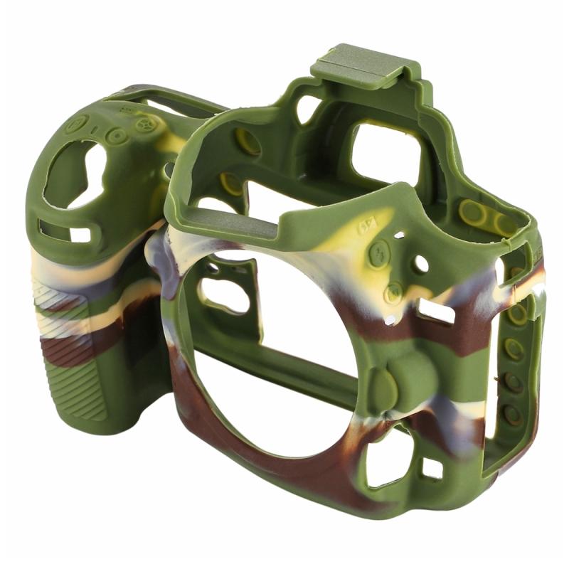 PULUZ zachte Silicone beschermhoes Case voor Nikon D750(Camouflage)