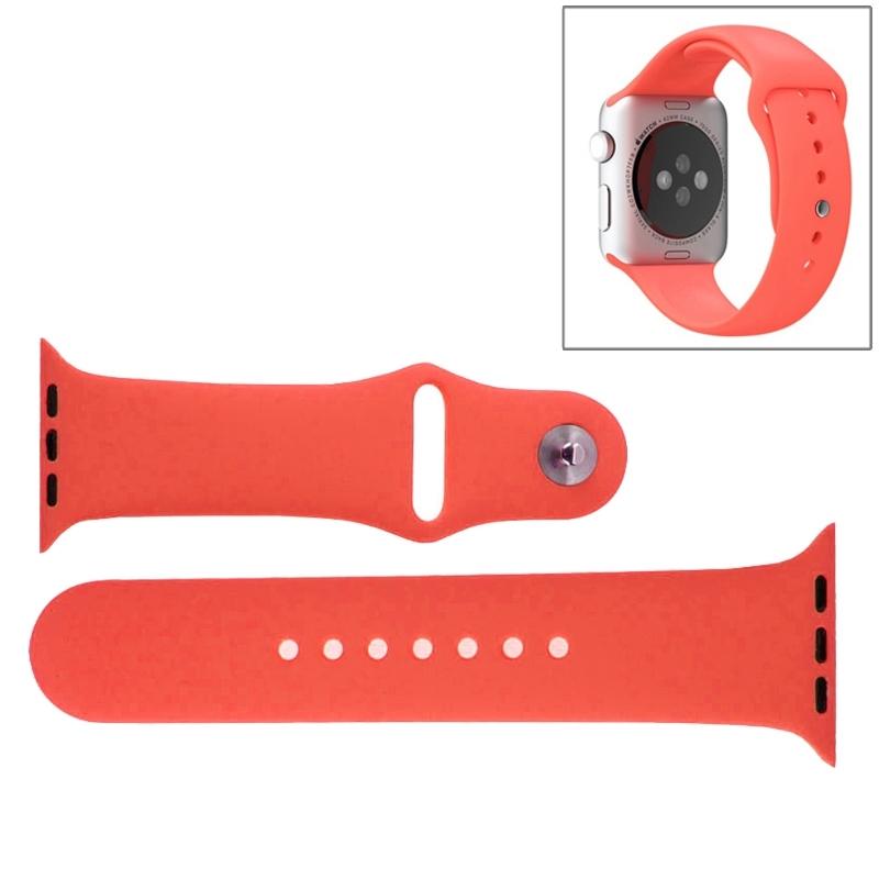 Afbeelding van Voor de Apple Watch Sport 38mm High-performance Rubber Sport horlogeband met Pin-en-tuck Closure(Magenta)