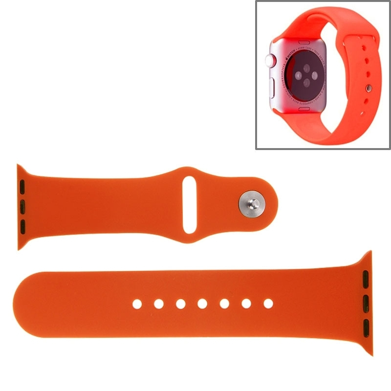 Afbeelding van For Apple Watch Sport 42mm High-performance Rubber Sport Watchband with Pin-and-tuck Closure(Orange)