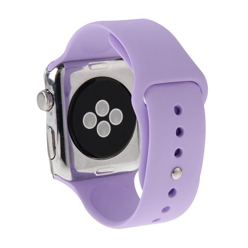 Afbeelding van Voor de Apple Watch Sport 42mm High-performance Rubber Sport horlogeband met Pin-en-tuck Closure(Purple)