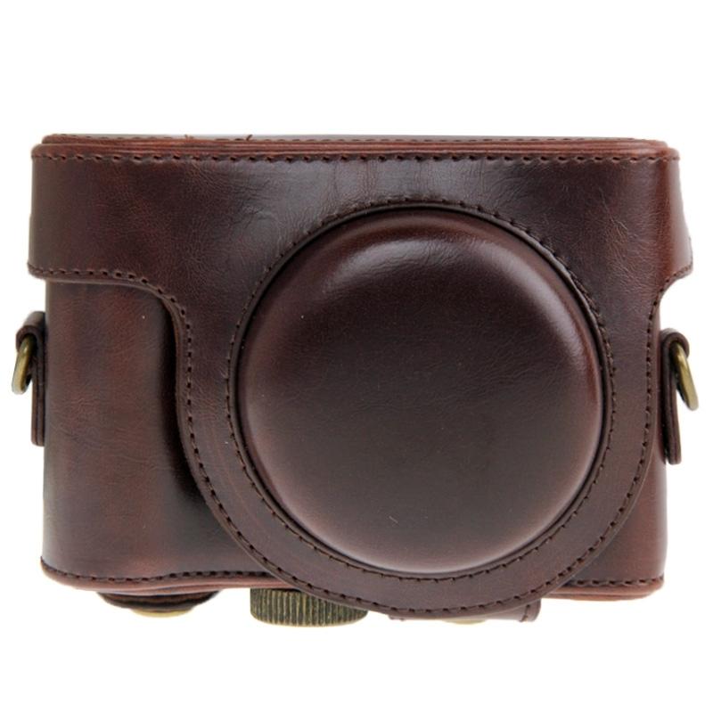 PU leren Camera Tas voor Sony HX50 (koffie kleur)