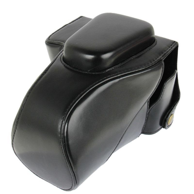 PU leren Camera Tas voor Canon 100D (zwart)