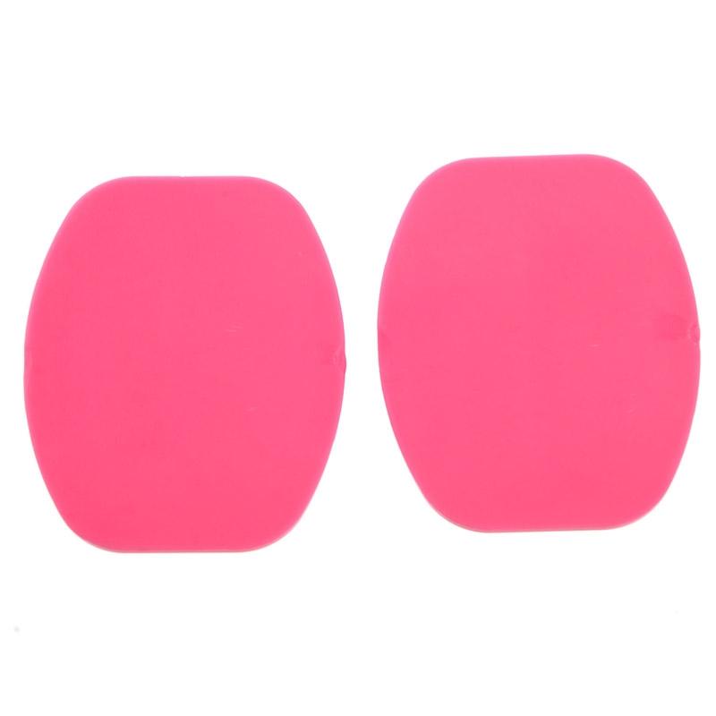 ST-12 2 platte oppervlak Adapters + 2 zelfklevende Mount Stickers voor GoPro HERO4 / 3 + / 3 / 2 / 1(roze)