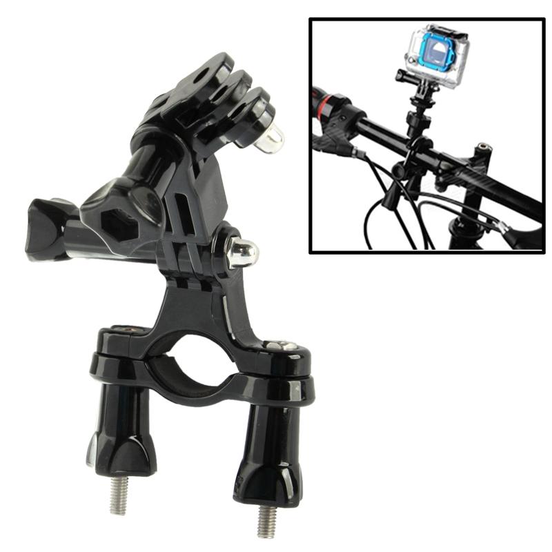 Fiets fiets Camera Stuur Bar Mount houder met 3 manier zwenkarm voor GoPro HD HERO4 / 3 + / 3 / 2 / 1(zwart)