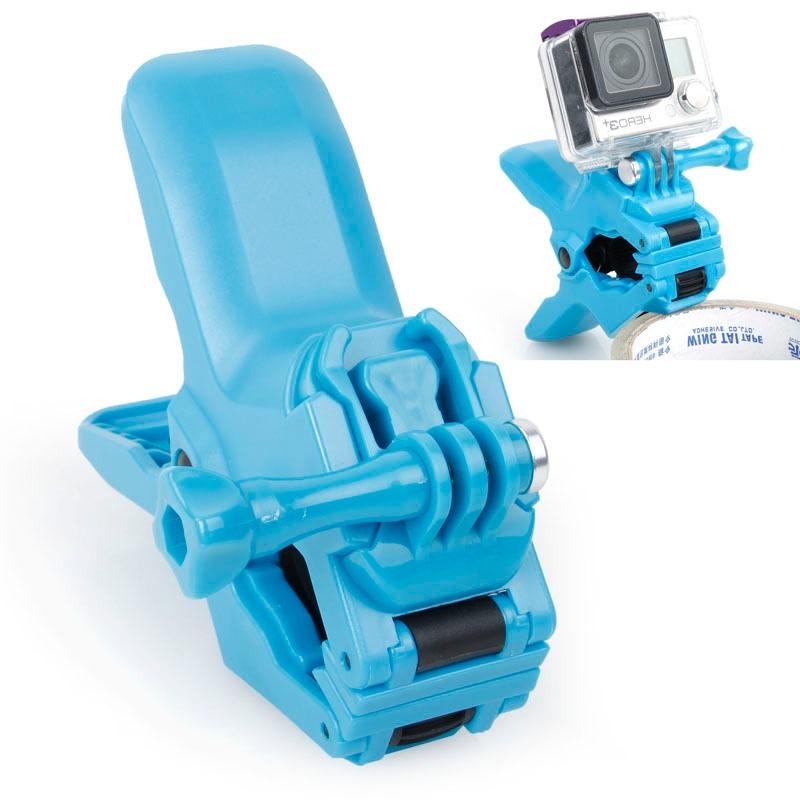 TMC Jaws Flex Clamp Mount met gesp & duim schroeven voor GoPro Hero 4 / 3 + / 3 / 2 / 1(blauw)