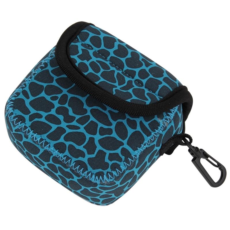 GN-5 luipaard structuur GoPro accessoires Waterdicht huisvesting neopreen innerlijke beschermings zak Camera tas voor GoPro HERO 5 / 4 /3+ /3 /2 /1(blauw)