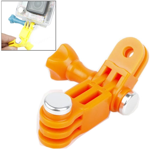TMC Mount 3 manier verstelbare zwenkarm schroeven bout voor GoPro Hero 4 / 3 + / 3 / 2 / 1  ABS Materiaal(Oranje)