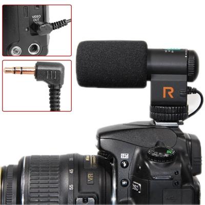 Mic-109 directionele stereo microfoon met 90 / 120 graden pickup schakelen modus voor dslr & DV-camcorder(zwart)