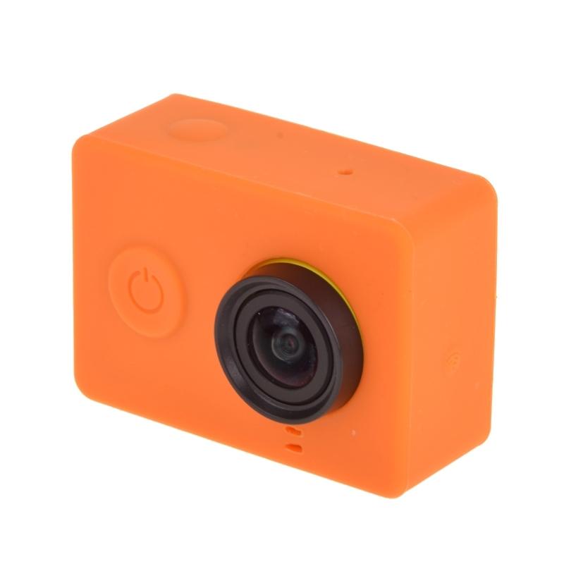 siliconen Gel beschermings hoesje voor Xiaomi Yi Sport Camera(Oranje)