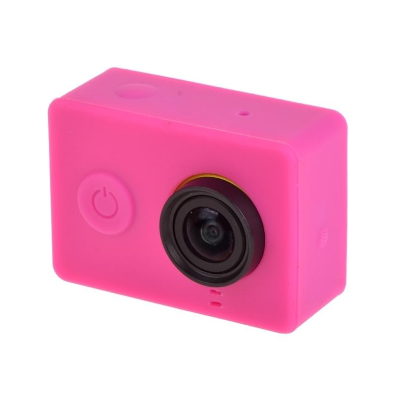 siliconen Gel beschermings hoesje voor Xiaomi Yi Sport Camera(hard roze)