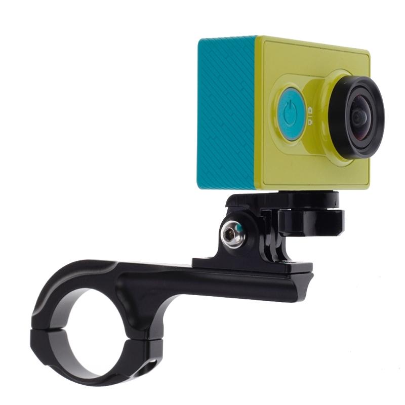 Fietsstuurhouder ontmoet Connector Mount voor Xiaomi Yi Sport Camera(zwart)