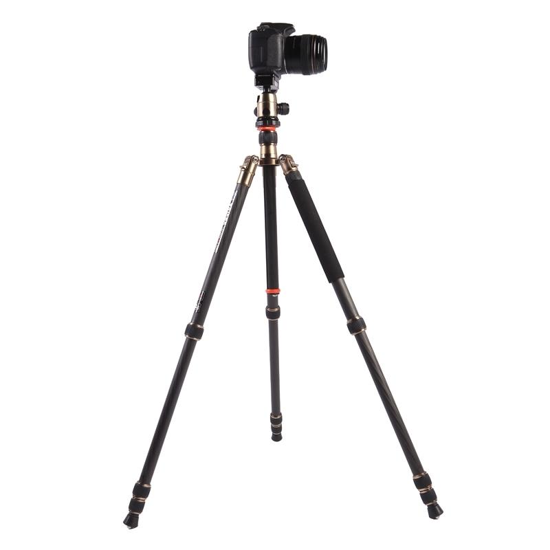 Triopo GT-2504X8.C Verstelbaar Portable Statief Koolstofvezel Tripod Standaard met B-1 Aluminium Balhoofd voor Canon Nikon Sony DSLR Camera