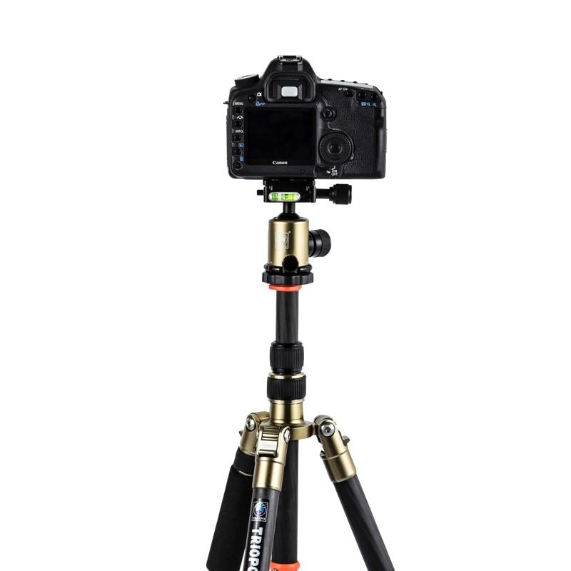 Triopo GT-2505x8.C Verstelbaar Portable Statief Koolstofvezel Tripod standaard met B-1 Aluminium Balhoofd voor Canon Nikon Sony DSLR Camera
