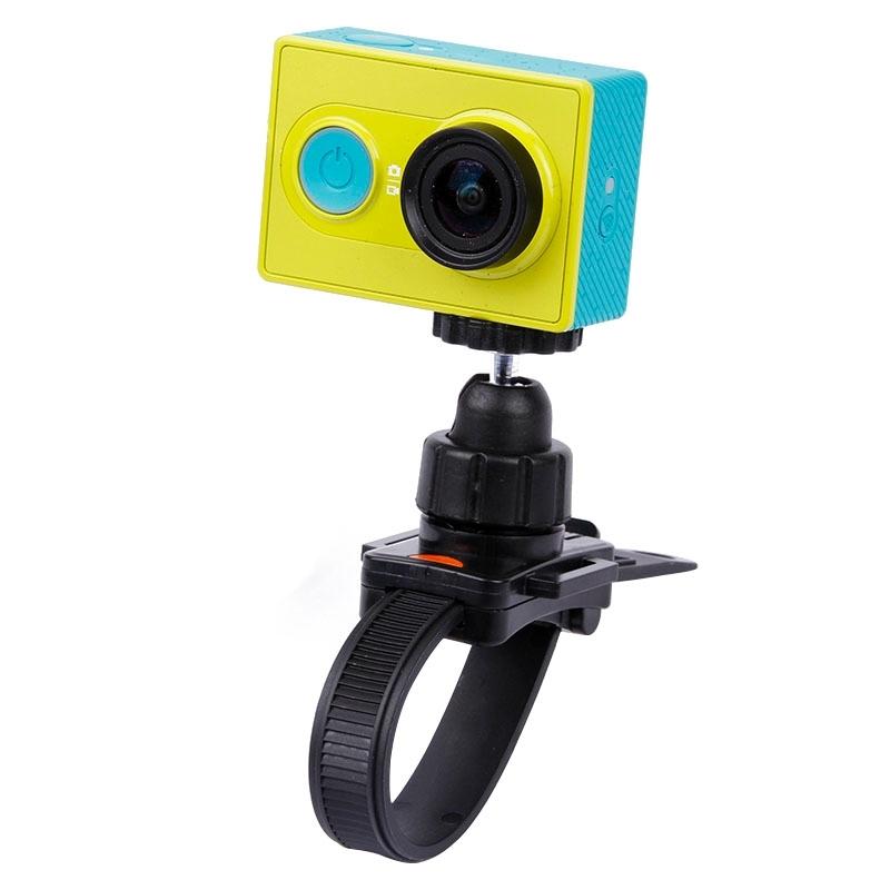 Camera Mount statief houder ontmoet hoofd riem / helm muts voor GoPro HERO4 / 3 + / 2 & 1  XiaoMi YI  SJCAM SJ4000 / SJ5000 / SJ6000 / SJ7000 / Kjstar Sport Camera(zwart)