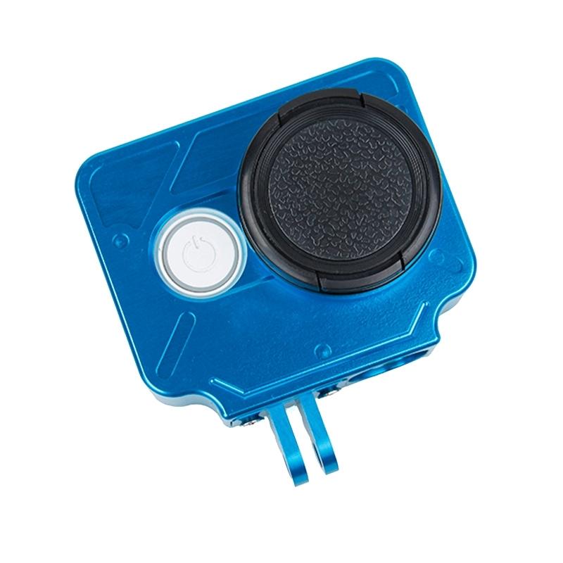 TMC HR327 CNC Aluminum Alloy beschermings hoesje voor Xiaomi Yi Action Camera(blauw)
