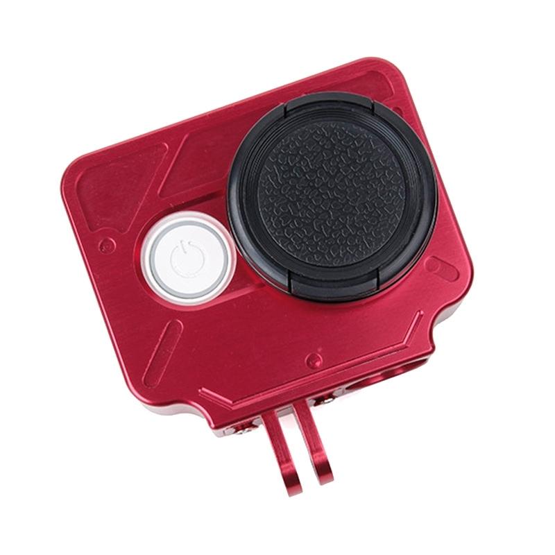 TMC HR327 CNC Aluminum Alloy beschermings hoesje voor Xiaomi Yi Action Camera(rood)