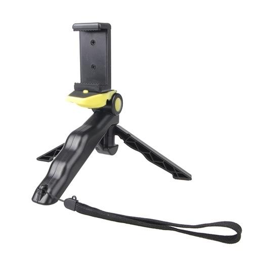 draagbare Hand Grip / Mini statief staan Curve met rechte Clip voor GoPro HERO 4 / 3 / 3 + / SJ4000 / SJ5000 / SJ6000 sport DV / Digitale Camera / iPhone  Galaxy nl andere mobiele telefoon(geel)