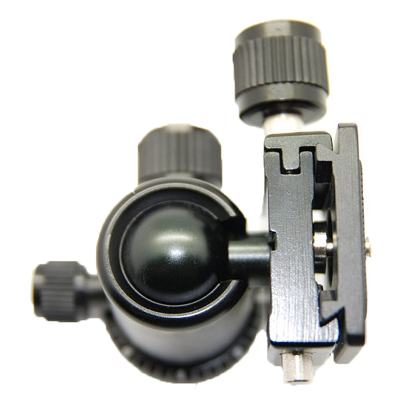 ruby aluminium, magnesium legering, statiefkop bal ontmoet adapter voor plafondplaten van snelsluiter (005h)(zwart)