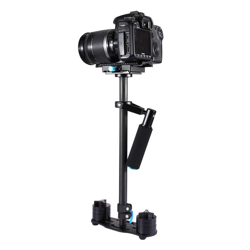 PULUZ S60T 60cm Koolstofvezel Handheld Stabilisator voor DSLR Camera DV (zwart)