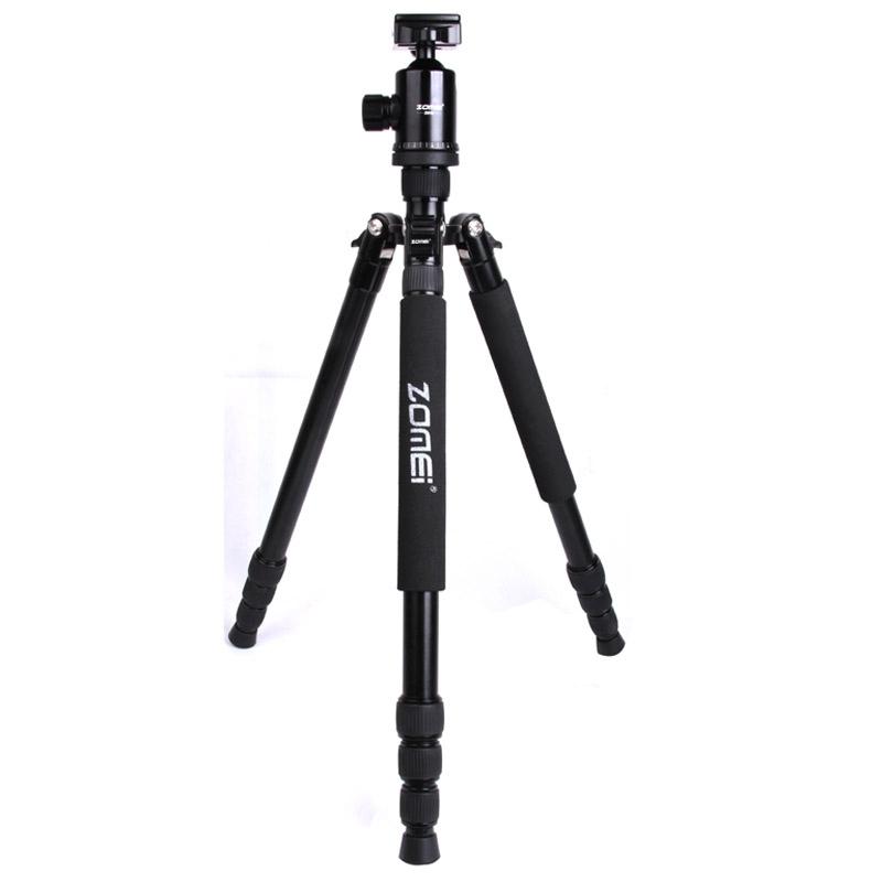 ZOMEI Z888 Professioneel Portable Statief Aluminium Tripod Monopod Standaard met Balhoofd voor Digitale Camera (zwart)