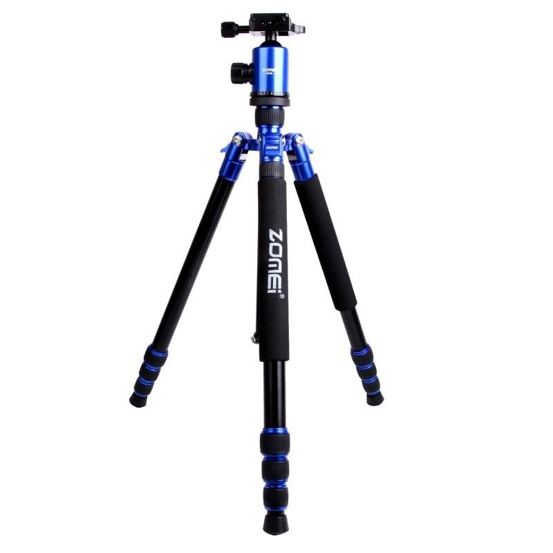ZOMEI Z888 Professioneel Portable Statief Aluminium Tripod Monopod Standaard met Balhoofd voor Digitale Camera (blauw)