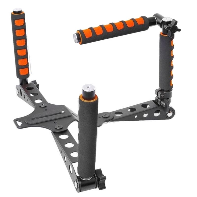 YELANGU YLG0107D Rig I Multifunctionele Schouder Montage Stabilisator met Handgrepen voor DSLR Camera / Video Camera