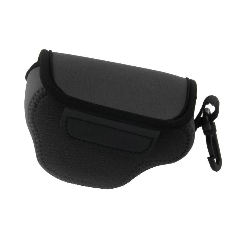 NEOpine Neopreen schokbestendige Camera Tas Hoes met Haak voor Nikon J4 Camera (zwart)