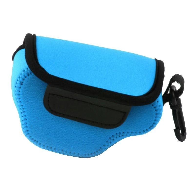 NEOpine Neopreen schokbestendige Camera Tas Hoes met Haak voor Nikon J4 Camera (blauw)