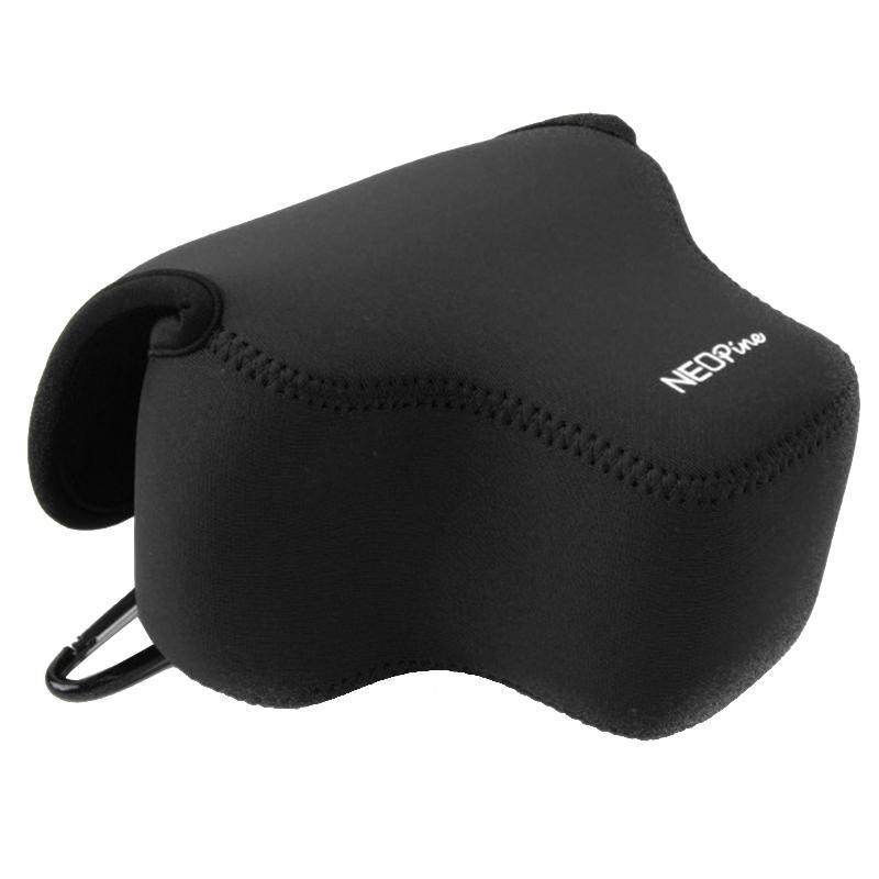 NEOpine Neopreen schokbestendige Camera Tas Hoes met Haak voor Canon SX60 Camera (zwart)
