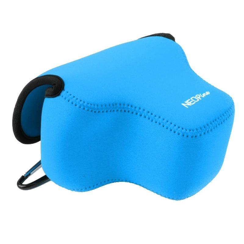 NEOpine Neopreen schokbestendige Camera Tas Hoes met Haak voor Canon SX60 Camera (blauw)