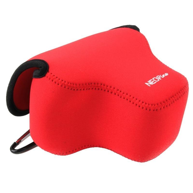 NEOpine Neopreen schokbestendige Camera Tas Hoes met Haak voor Canon SX60 Camera (rood)