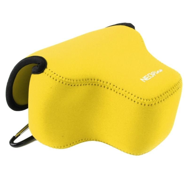 NEOpine Neopreen schokbestendige Camera Tas Hoes met Haak voor Canon SX60 Camera (geel)