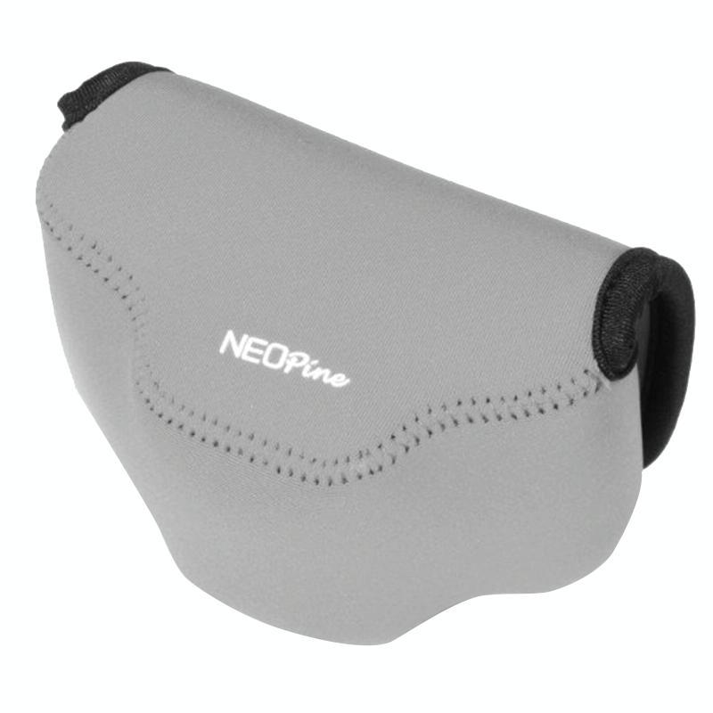 NEOpine Neopreen schokbestendige Camera Tas Hoes met Haak voor Fujifilm X30 Camera (grijs)