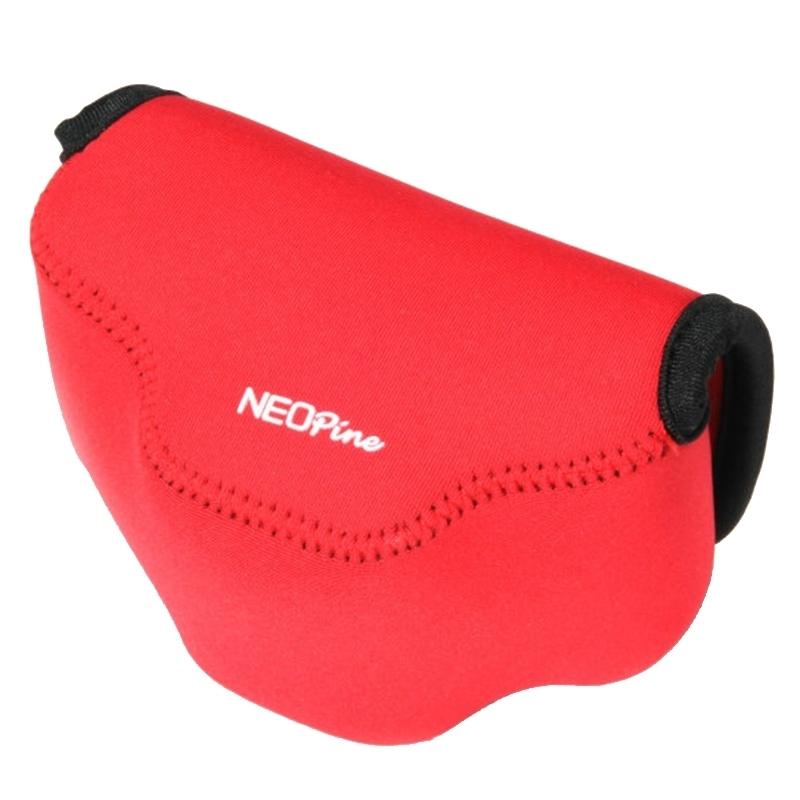NEOpine Neopreen schokbestendige Camera Tas Hoes met Haak voor Fujifilm X30 Camera (rood)