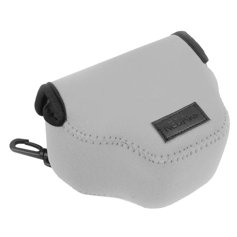 NEOpine Neopreen schokbestendige Camera Tas Hoes met Haak voor Canon SX510 Camera (grijs)