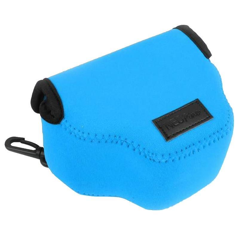 NEOpine Neopreen schokbestendige Camera Tas Hoes met Haak voor Canon SX510 Camera (blauw)